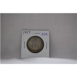 Canada Fifty Cent Coin (1) 1957 - Silver