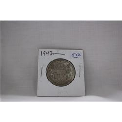 Canada Fifty Cent Coin (1) 1942 - Silver