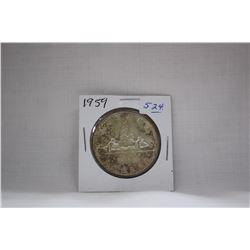 Canada One Dollar Coin (1) 1959 - Silver