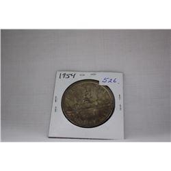 Canada One Dollar Coin (1) 1954 - Silver