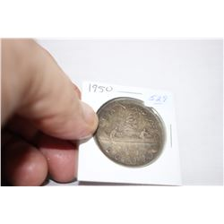 Canada One Dollar Coin (1) 1950 - Silver