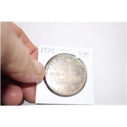 Canada One Dollar Coin (1) 1939 - Silver