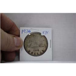 Canada One Dollar Coin (1) 1936 - Silver