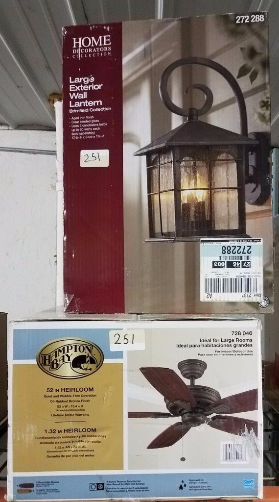 Image 1 Home Decorators Collections Large Exterior Wall Lantern Hampton Bay 52in Heirloom Ceiling