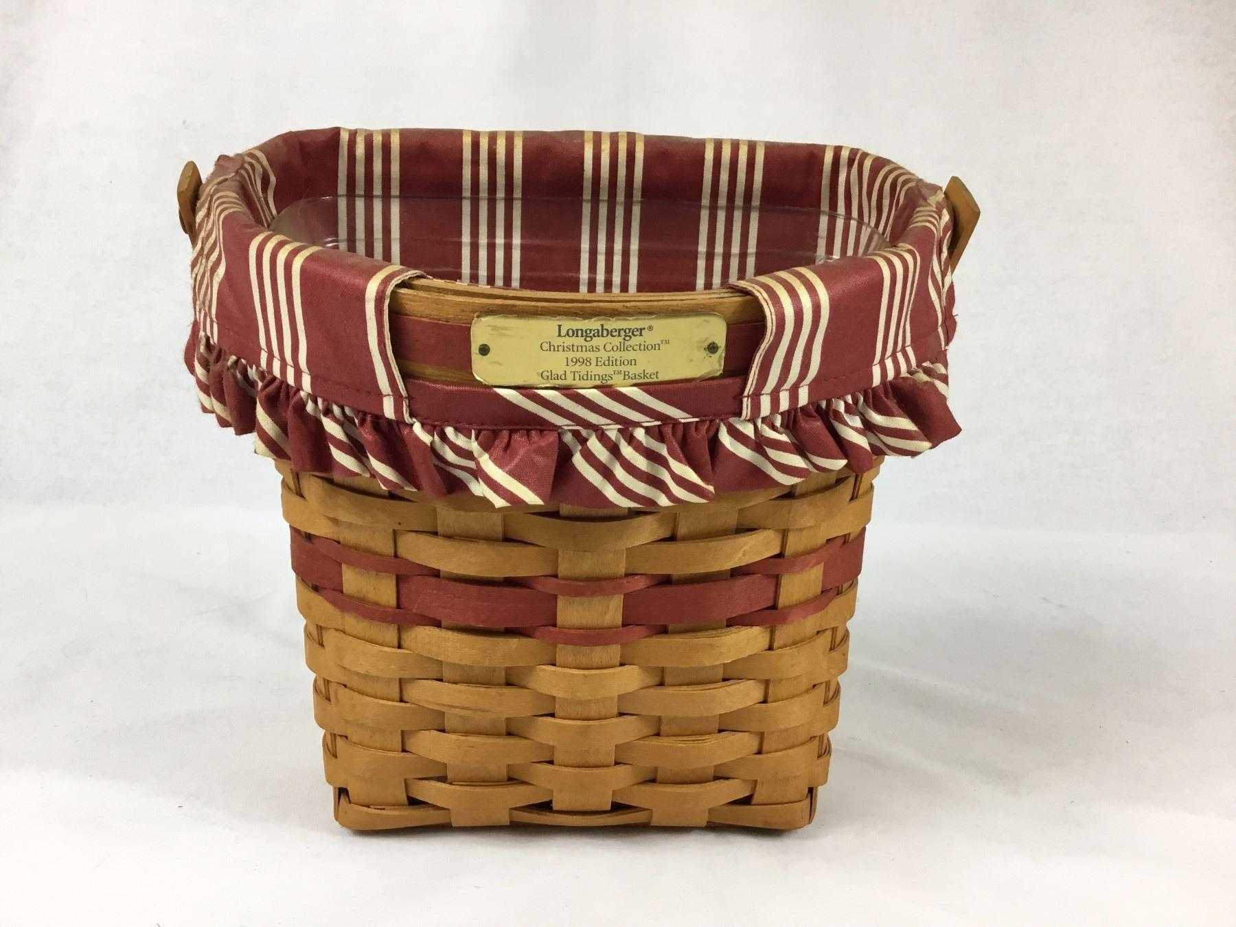 Longaberger Christmas Basket.Longaberger Christmas Collection 1998 Edition Glad Tidings Basket