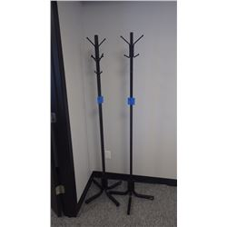 2 - METAL TUBE COAT HANGER TREES