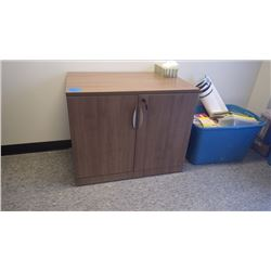 CUSTOM BUILD WALNUT WOODGRAIN 3' - 2DR CABINET W/LOCK