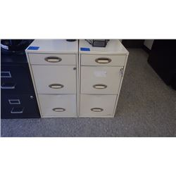 2 - 3 DRAWER METAL FILE CABINETS