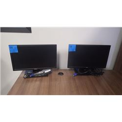 "2 DELL 15"" DESKTOP MONITORS"