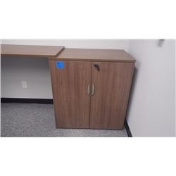 CUSTOM BUILT WALNUT WOODGRAIN 2 - DOOR 36 X 38 CABINET W/LOCK