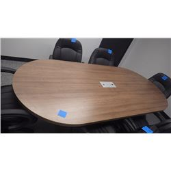 "OVAL 94"" X 43"" BOARDROOM TABLE"
