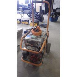 RIGID 7000 W GENERATOR W/HONDA GX390 GAS ENGINE
