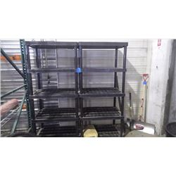 2 - 34 X 72 PLASTIC SHELVING UNITS