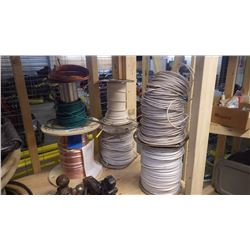 4 ROLLS OF MISC RW90 WIRE PLUS PLUS 7 STRAND BARE COPPER WIRE