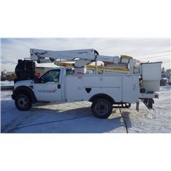2008 FORD F550 BUCKET TRUCK VIN 1FDAF56R08EA28557 WITH 164287 KMS AND 1835 HRS. 6.0L TURBO DIESEL 2
