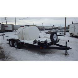 2015 RAINBOW TANDEM AXLE FLAT BED TRAILER 7000 LB GVWR VIN2RGBE1629G1000035  WITH WATER TANK AND POW