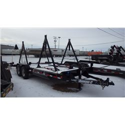 2016 Diamond C 18EEQL Tandem Axle flat deck trailer S/N 46UFU2029G1177315 REEL STANDS ARE REMOVABLE