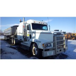 1999 FREIGHTLINER TRACTOR WITH DOUBLE SLEEPER, SERIES 60 DETROIT DIESEL, 13 SPEED EATON FULLER TRANS