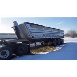 2008 LOAD LINE TRI AXLE DUMP TRAILER WITH PLASTIC LINER, ROLL TOP TARP, 99,200 GVWR, VIN 209ED352581