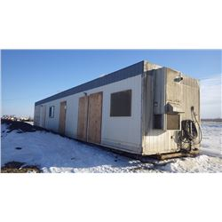 LOCATED ONE MILE NORTH OF SASKATOON...... READY TO GO....MOD SPACE OFFICE TRAILER ON STEEL SKIDS APP