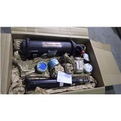 PALLET WITH MESAVI HEAT EXCHANGER / DRIVE SHAFT / PARKER HYDRAULIC PUMP AND BUSHINGS
