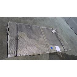 PALLET OF 3 4'X8' OF ALUMINUM EXPANDED METAL