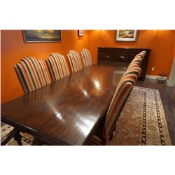 HIGH END DREXEL HERITAGE DINNING ROOM TABLE WITH CHAIRS PAID 30,000 DOLLARS CUSTOM ONE OF A KIND. IT