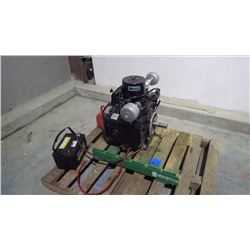 UNUSED KOHLER 28 HP TWIN CYLINDER AUGER ENGINE (CAN BE HEARD RUNNING)