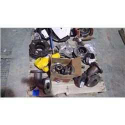 PALLET OF ASSORTED PUMP IMPELLARS / BEARINGS / ELBOWS AND COUPLERS