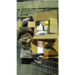 PALLET INCLUDES SUBMERSIBLE LIMIT SWITCHES / BOLTS / ELECTRODE HOLDER / PICKLING PASTE / NEUTRALIZER