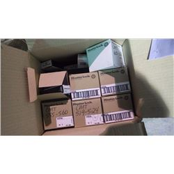 BOX OF APPROXIMATELY 90 TEAL PADLOCKS WITH KEYS