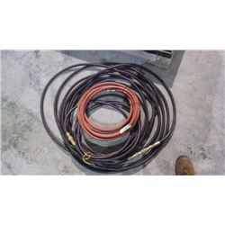 THREE AIR HOSES MISC LENGTHS 300 PSI WITH DELUXE COUPLERS
