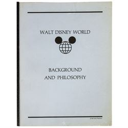 Walt Disney World Background and Philosophy Book.