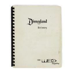 "WED Imagineering ""Disneyland Dictionary"" Booklet."