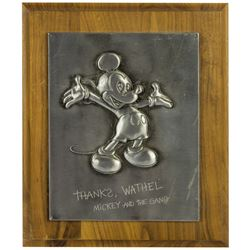 Wathel Rogers Disney Studio Retirement Plaque.