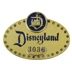 Early Disneyland Cast Member ID Badge.