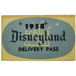 1958 Disneyland Delivery Pass.