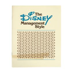 The Disney Management Style Booklet and Letter.