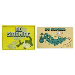 "Pair of Back Stage ""No Smoking"" Signs."