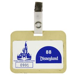 Disneyland Employee Badge.