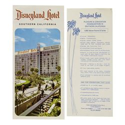Disneyland Hotel Brochure and Room Rates Flyer.