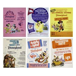 Collection of (6) Disneyland Event Flyers.