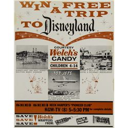 Disneyland Contest Poster.