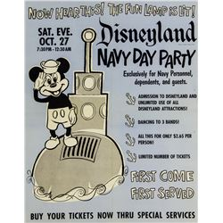 Disneyland 1956 Ticket Booth Poster.