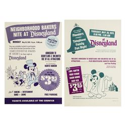 Pair of 1970 Disneyland Ticket Booth Posters.