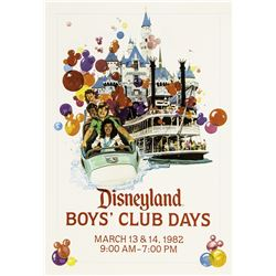Pair of Matching Disneyland Ticket Booth Event Posters.
