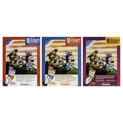 "Set of (5) Disneyland ""Military Days"" Ticket Booth Posters."