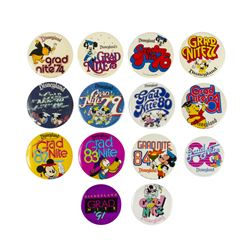 "Collection of (14) ""Grad Nite"" Buttons."