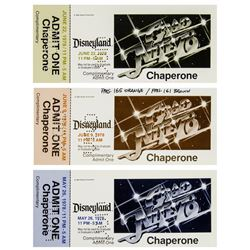 "Collection of (3) ""Grad Nite '78"" Chaperone Tickets."