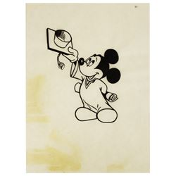 Original Graduate Mickey Mouse Promotional Artwork.